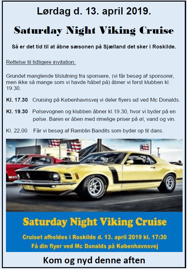 Saturday Night Viking Cruise